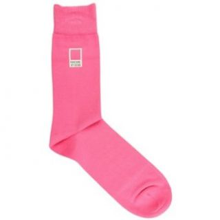 Pink Mens Cotton Socks by Pantone: Clothing