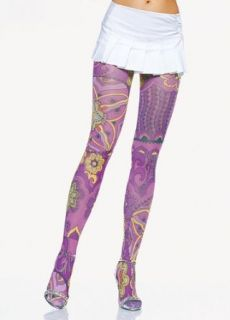 Opaque Retro Multi Color Prints Tights (Multicolor;One