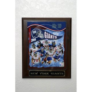 New York Giants 2008 Picture Plaque