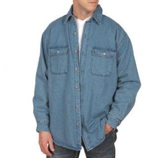 Fleece Lined Denim Shirt Clothing