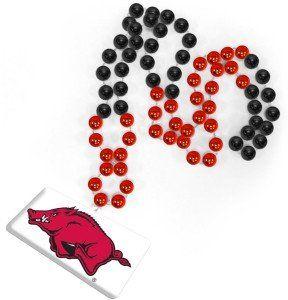 NCAA Arkansas Razorbacks Beads with Logo Medallion Sports