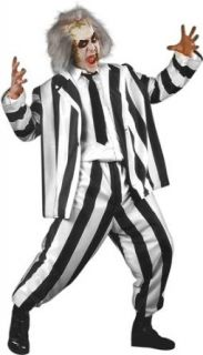Adult Mens Beetlejuice Halloween Costume (Size Large