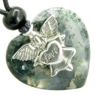 Guardian Spirit Angel Love Heart Good Luck Amulet Green