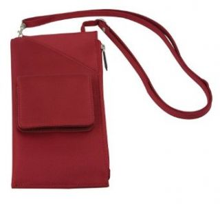Travelon Cross Body Travel Wallet, Red, One Size Clothing