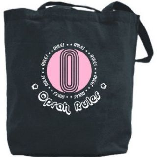 Canvas Tote Bag Black  Oprah Rules  Name Clothing
