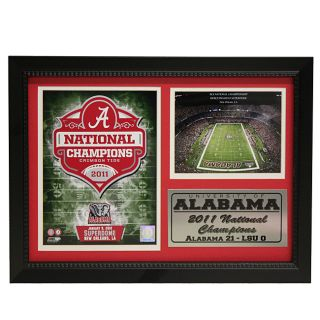 University of Alabama 2011 National Champion Photo Stat Frame 2 Today