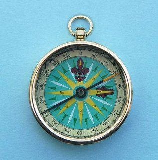 Solid Brass 2 inch Open Faced Pocket Compass Sports