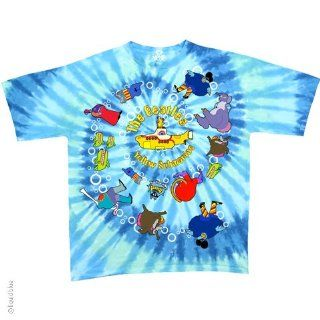 The Beatles Yellow Submarine Spiral T Shirt (Tie Dye), XL