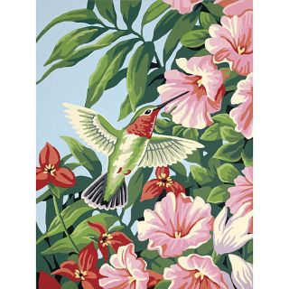 Hummingbird and Fuchsias 12x9 Paint by Number Kit