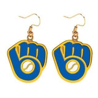 Milwaukee Brewers Retro Glove Logo Dangle Earrings