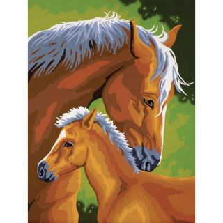 Mother and Colt 9x12 Paint by Number Kit