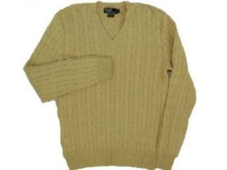 Polo Ralph Lauren Silk/Cashmere Sweater Khaki L Clothing