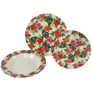 Tango Hawaii 12 piece Dinnerware Set
