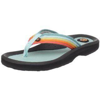 Rafters Womens Tsunami Stripe Sandal,Blue/Orange,6 M US Shoes