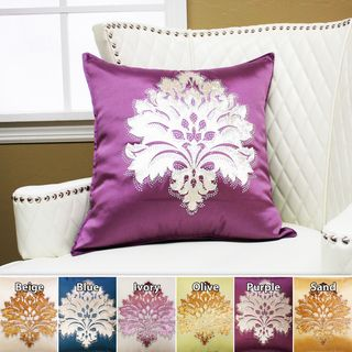 Damask Rhinestone Stud Poly Oxford Pillow 19 x 19 (Set of 2