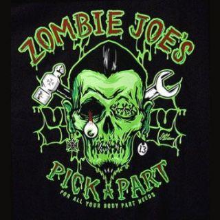 Lucky 13 Zombie Joes Mens Black T Shirt NEW Chop Shop