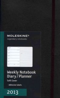 Moleskine Notebook Black Large 2013 Weekly Planner (Calendar