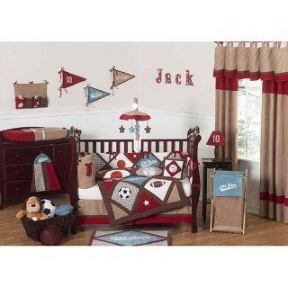 Sweet Jojo Designs All Star Sports 11 piece Crib Bedding Set