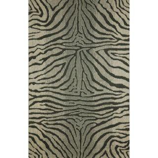Zebra Animal Print Black Rug (411 x 76)