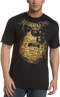 Zion Rootswear Mens Johnny Cash Songs T Shirt Clothing