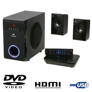BON ETAT   Ensemble Home Cinéma DVD 2.1   Puissance maximum  400 W
