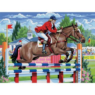 Junior Large Paint By Number Kit Show Jumping