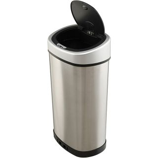 Touchless 13.2 gallon Stainless Steel Trash Can