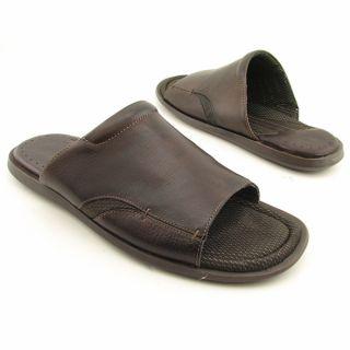 MURPHY Mens Vaden Slide Brown Sandals Leather Slide Shoes (Size 13
