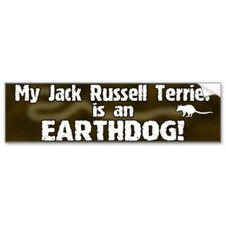 Jack Russell Terrier Earthdog Bumper Sticker