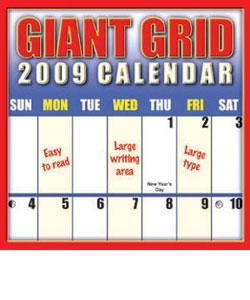 Giant Grid 2009 Wall Calendar