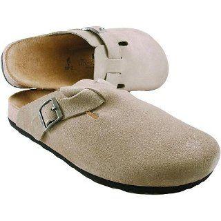 Newalk Licensed by Birkenstock Taupe Suede Clog Size 46 EU Shoes