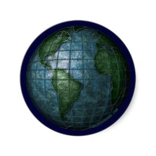 Iron Plated Earth Sticker