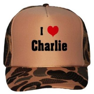 I Love/Heart Charlie Adult Brown Camo Mesh Back Hat