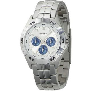 Fossil BQ9303 Mens Multi function Silver Dial Watch