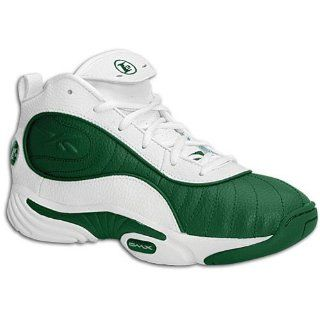 Reebok Big Kids Answer III Mid ( sz. 04.0, White/Forest Green ) Shoes