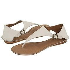 Corso Como Santorini Off White Vintage Tumbled Leather Sandals