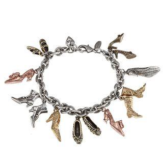 Sweet Romance Antique Shoes Vintage Charm Bracelet