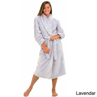 Alexander Del Rossa Womens Super Plush Microfiber Bathrobe