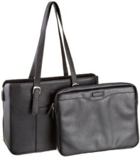 Codi Luggage Executive Leather Shoulder Bag, Black, Small