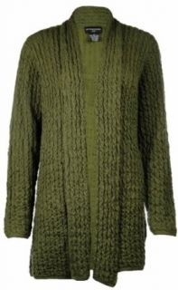 Sutton Studio Womens Wave No Close Front Long Cardigan