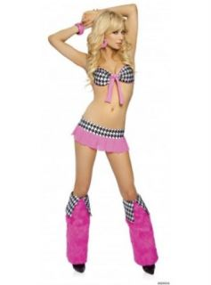 3pc Includes Top, Pleated Micro Skirt & G string Clothing