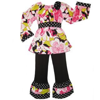 Ann Loren Girls Floral Peasant Top and Pant Set Today $22.99 4.4 (9