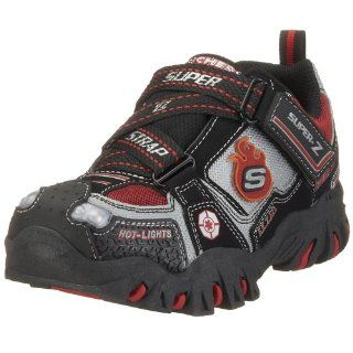 Fire Rescue Hook And Loop Shoe,Black/Red,12.5 M US Little Kid Shoes