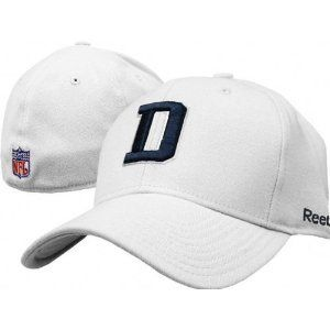 Dallas Cowboys NFL Reebok Coaches Sideline Flexfit White