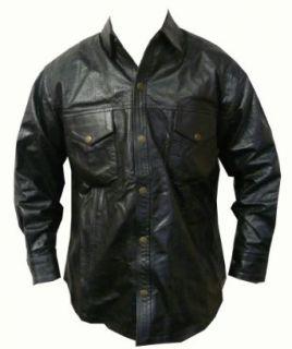 Leather Perforated Long Sleeve Shirt   Leatherbull (Free U