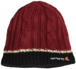 Carhartt Womens Cable Knit Hat,Burgundy,One Size