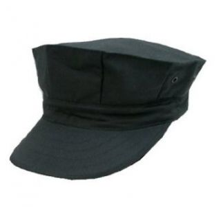 New Black Eight Point Captain Hat, X Large Clothing