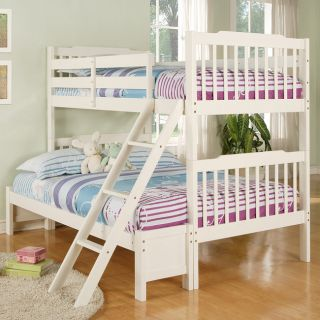 Simone Soft White Twin/ Full Bunk Bed Today $468.99 4.6 (5 reviews