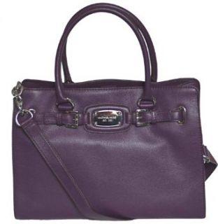 Michael Kors Purple Leather Hamilton Large EW Tote Handbag
