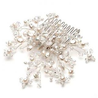 Bridal Wedding Comb, Fresh Water Pearl & Crystal 180